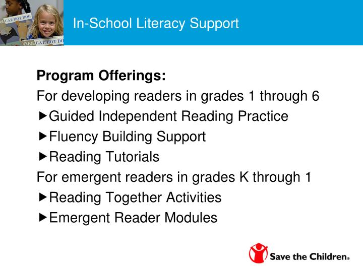 In-School Literacy Support