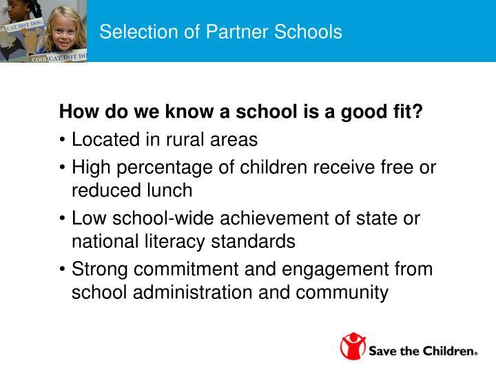 Selection of Partner Schools