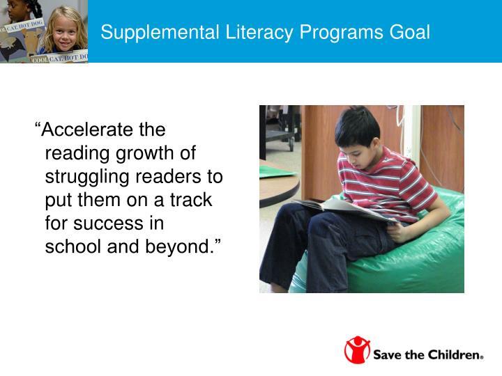 Supplemental Literacy Programs Goal