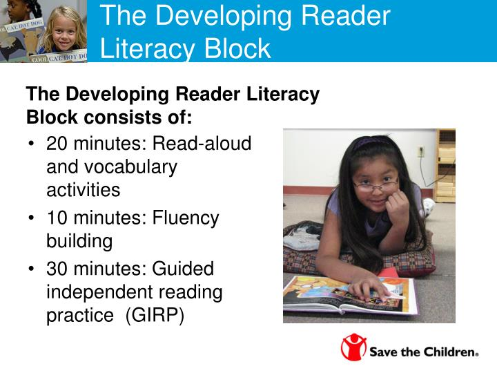 The Developing Reader  Literacy Block