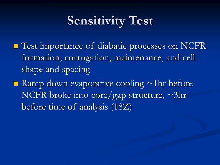 Sensitivity Test
