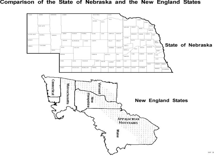 Comparison of the state of Nebraska and the New England States