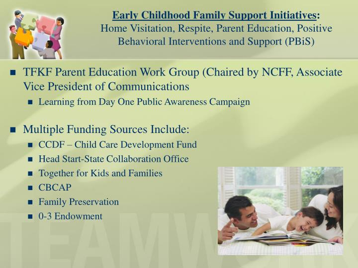 Early Childhood Family Support Initiatives
