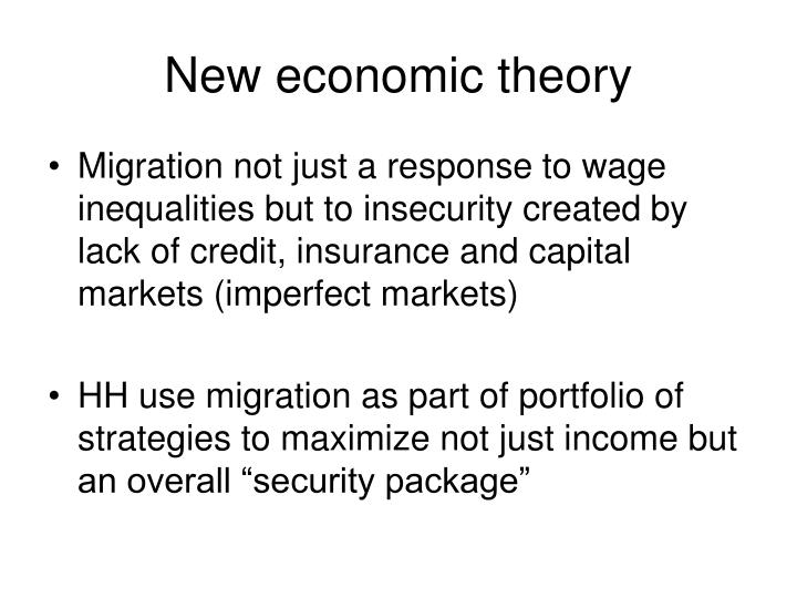 New economic theory