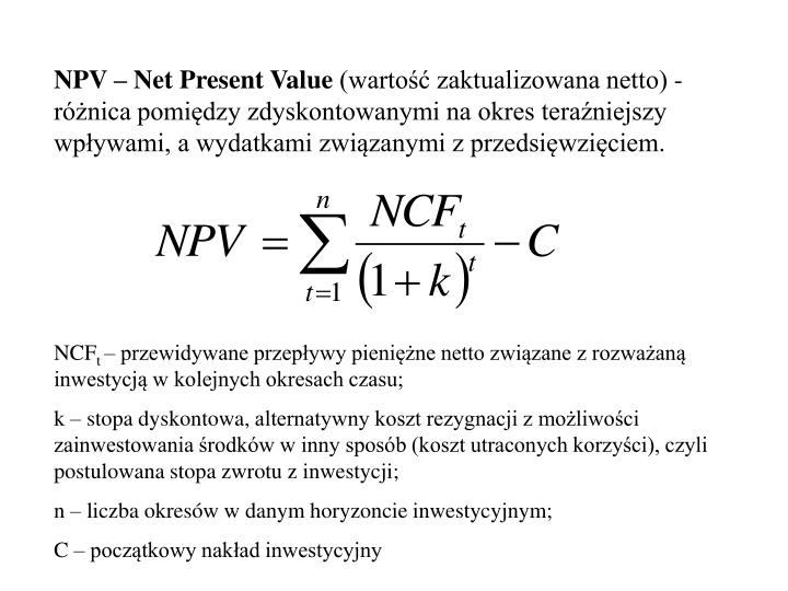 NPV – Net Present Value