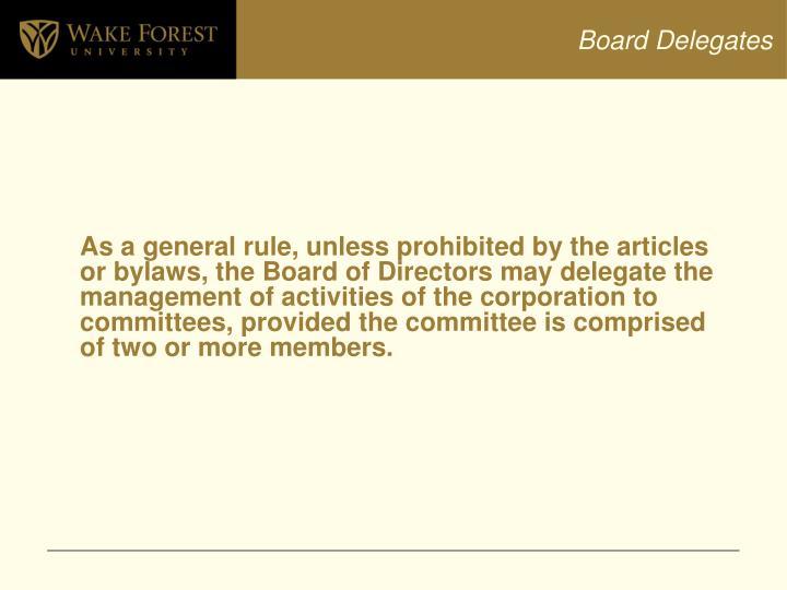 Board Delegates