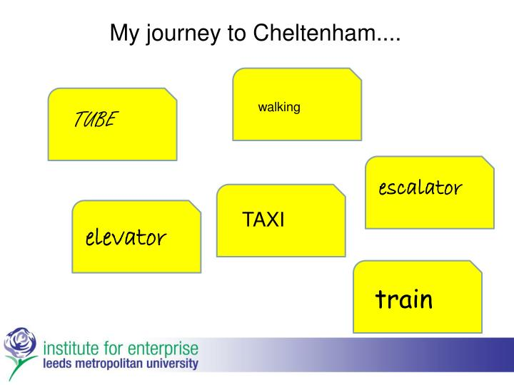 My journey to Cheltenham....