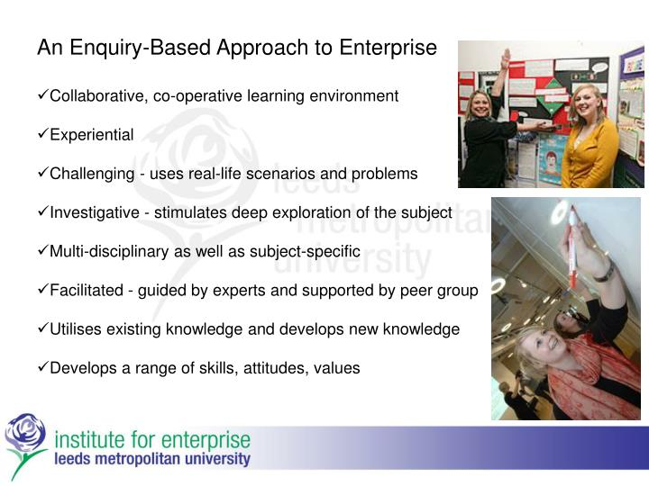 An Enquiry-Based Approach to Enterprise