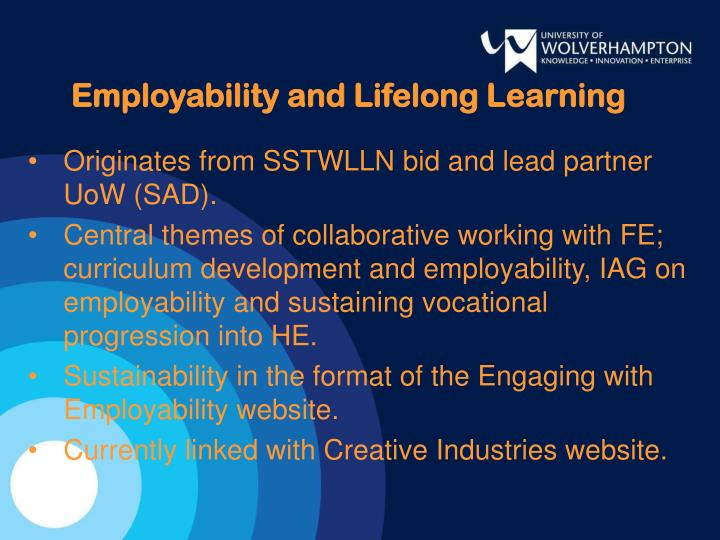 Employability and lifelong learning
