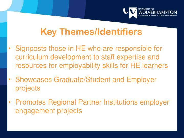 Key Themes/Identifiers