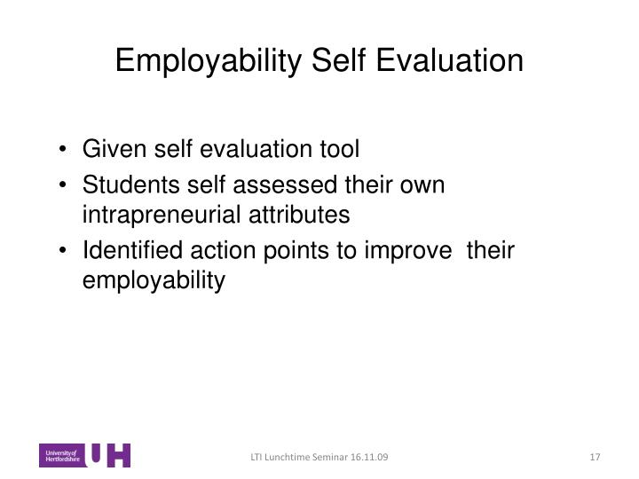 Employability Self Evaluation