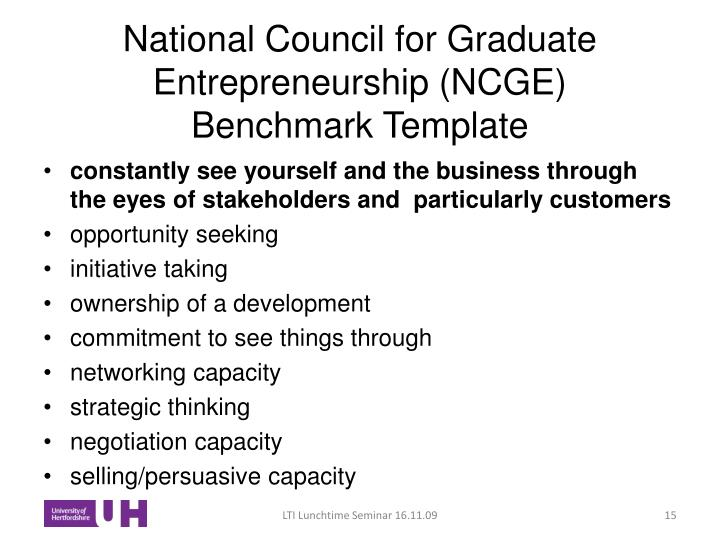 National Council for Graduate Entrepreneurship (NCGE)