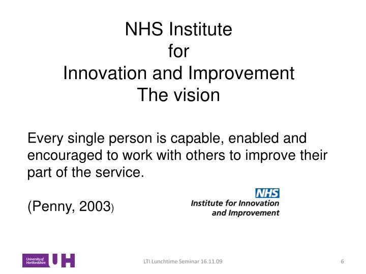 NHS Institute