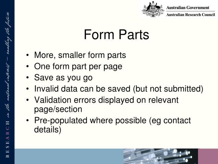 Form Parts