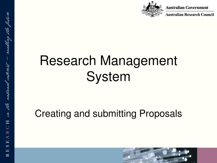 Research management system