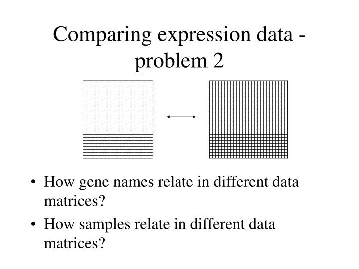 Comparing expression data - problem 2