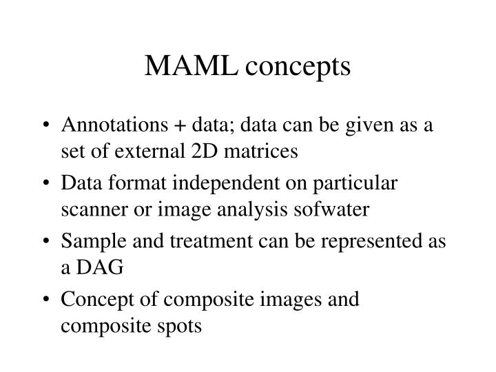 MAML concepts