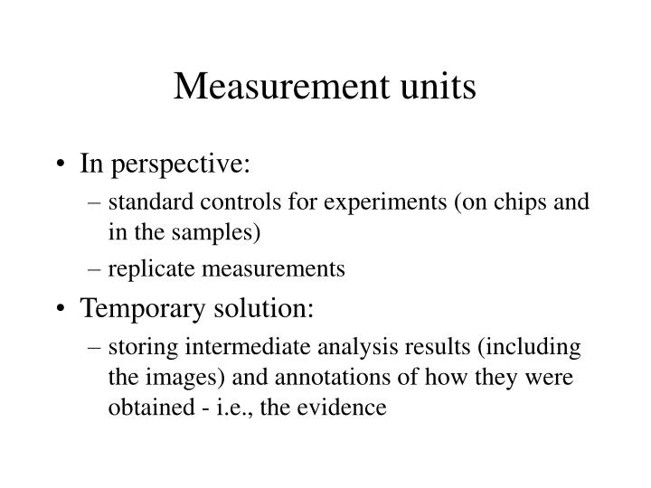 Measurement units