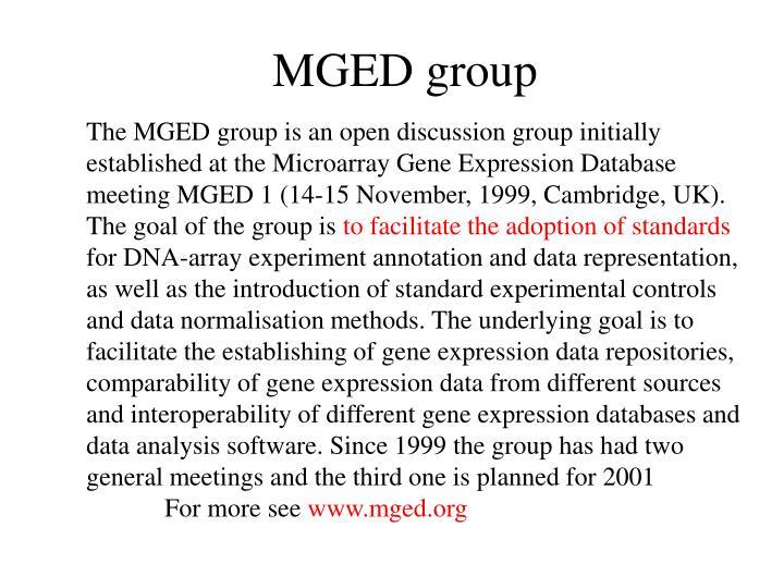MGED group