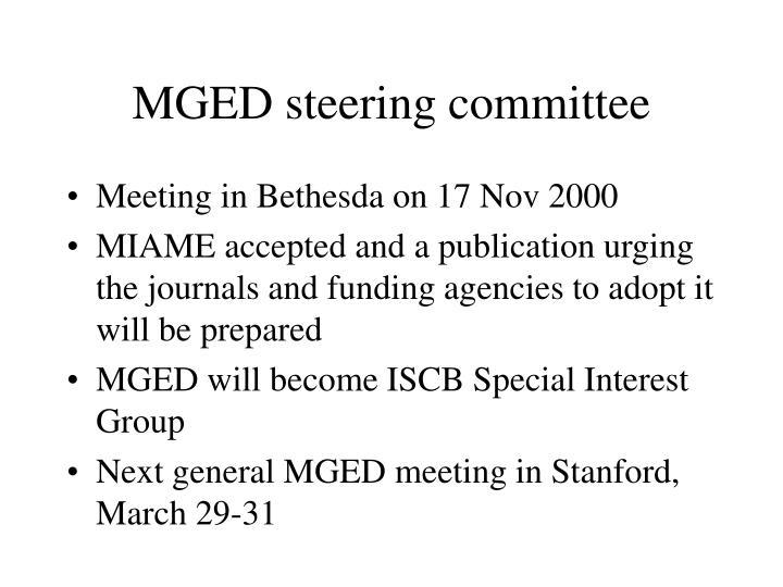 MGED steering committee