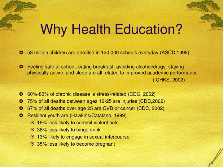 Why Health Education?