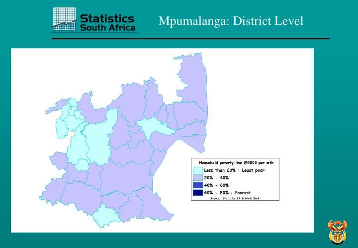 Mpumalanga: District Level