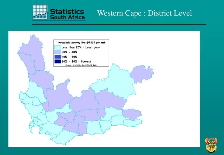 Western Cape : District Level