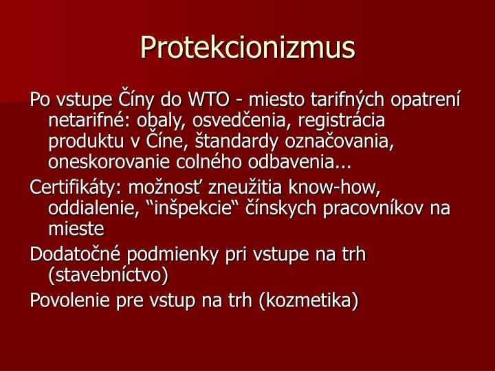 Protekcionizmus