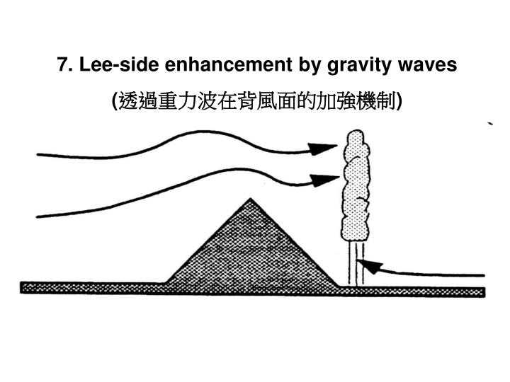 7. Lee-side enhancement by gravity waves