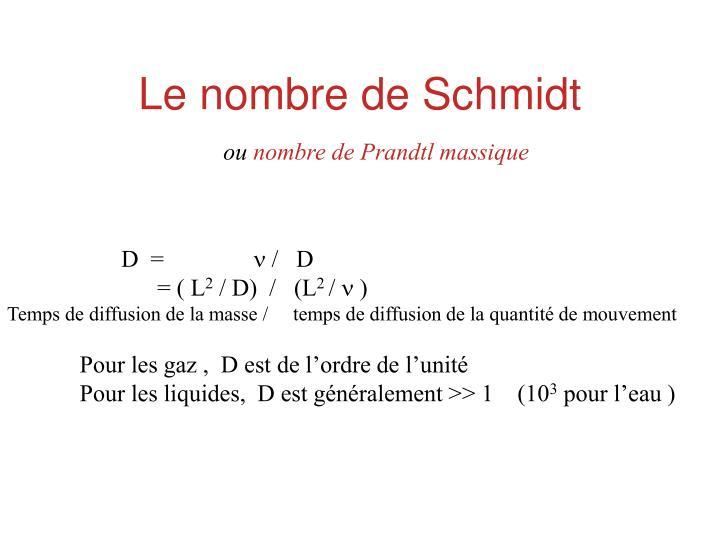 Le nombre de Schmidt