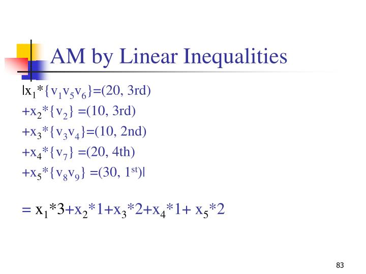 AM by Linear Inequalities