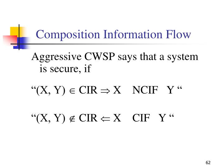 Composition Information Flow