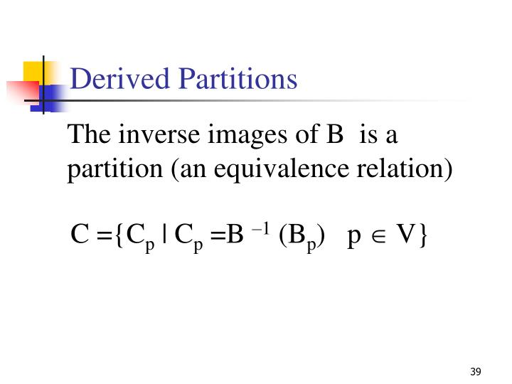 Derived Partitions