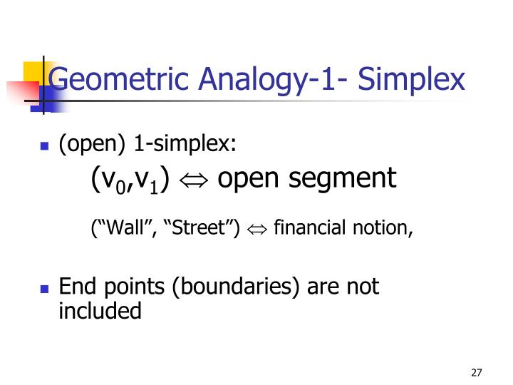 Geometric Analogy-1- Simplex