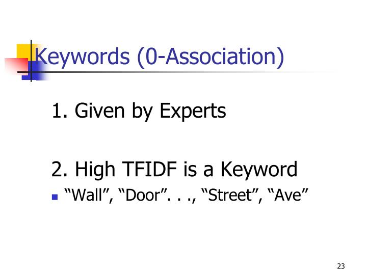 Keywords (0-Association)