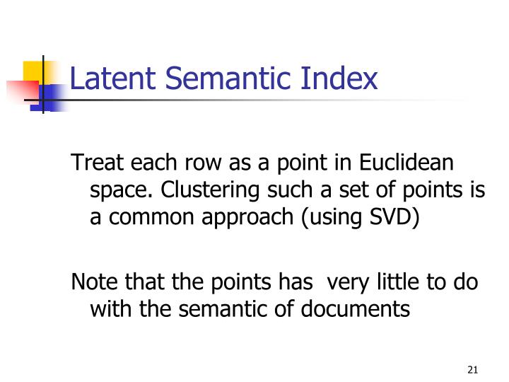 Latent Semantic Index