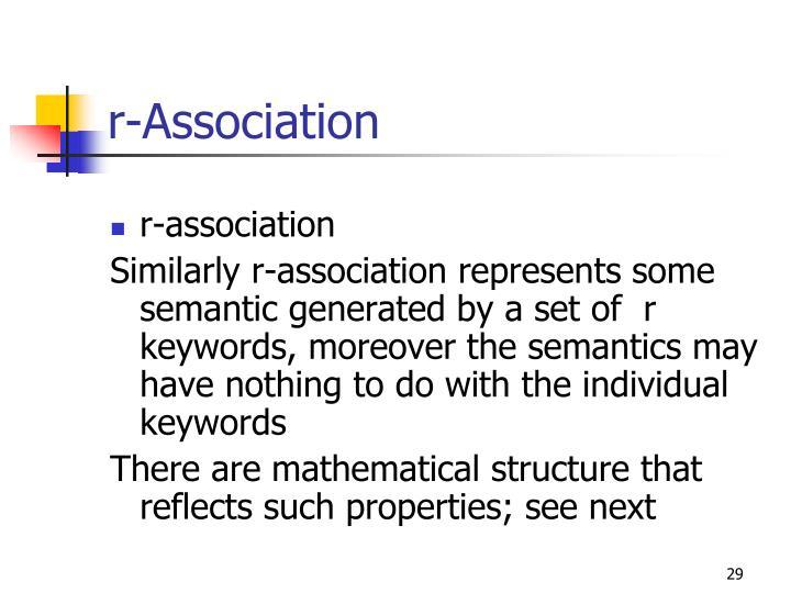 r-Association