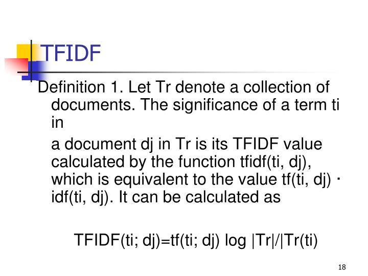 TFIDF
