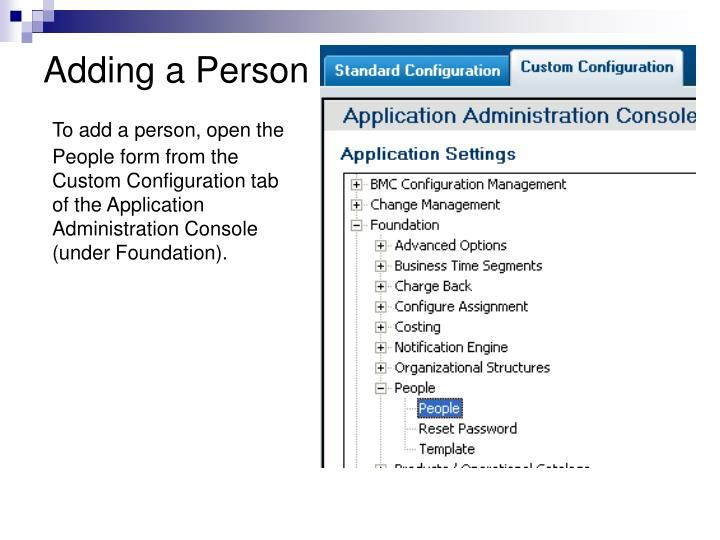 Adding a Person