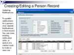 creating editing a person record17