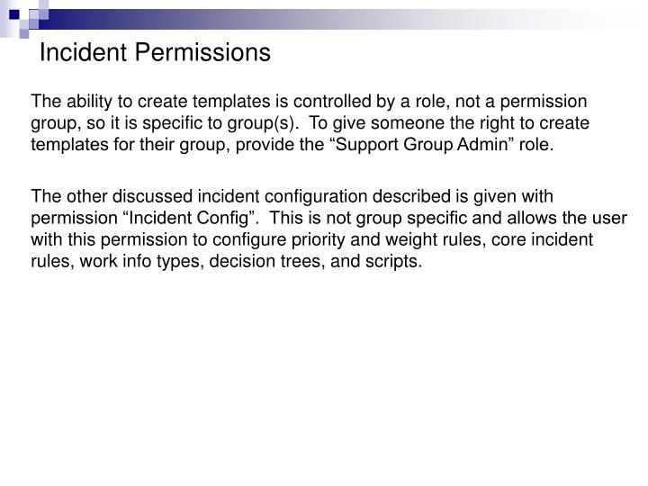 Incident Permissions