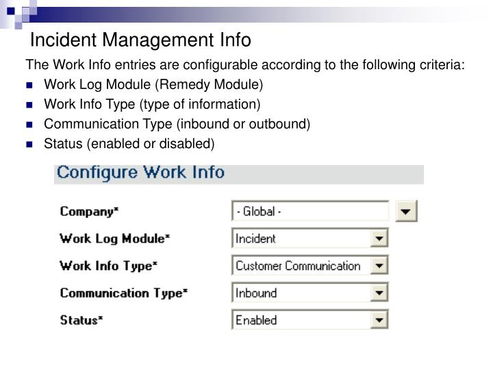 Incident Management Info
