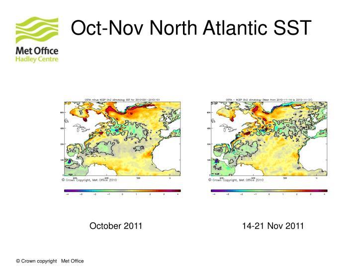 Oct-Nov North Atlantic SST