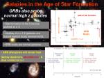 galaxies in the age of star formation