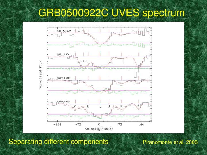 GRB0500922C UVES spectrum