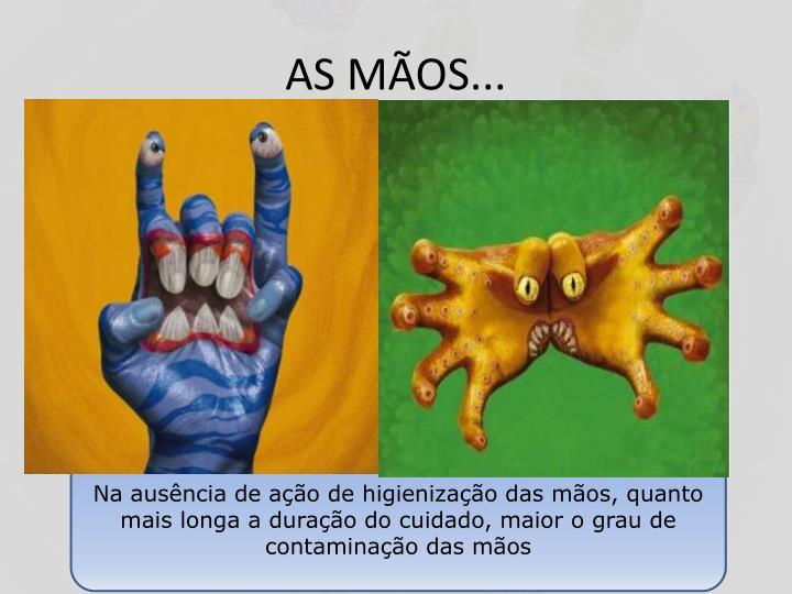 AS MÃOS...