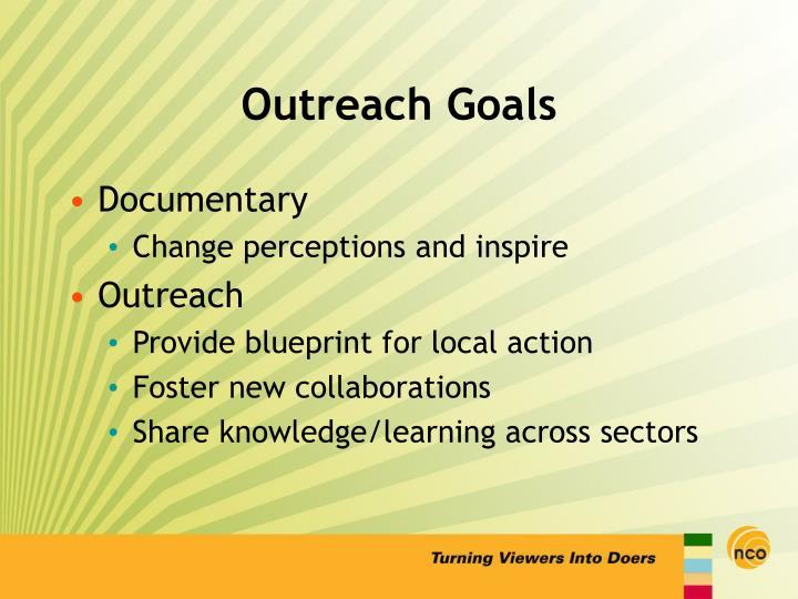 Outreach Goals