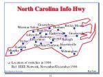 north carolina info hwy