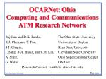 ocarnet ohio computing and communications atm research network