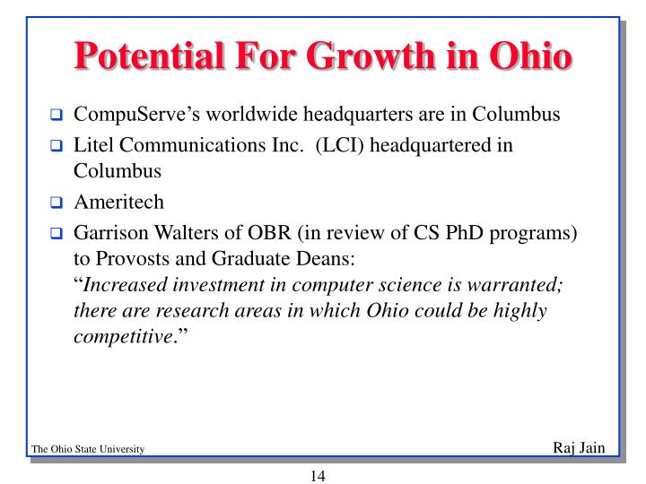 Potential For Growth in Ohio